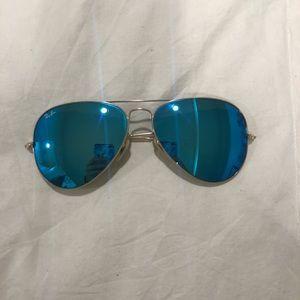 Blue Mirror RayBans!